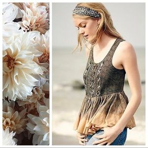 Anthropologie Akemi Kin Suva Peplum Sequin Tank XL